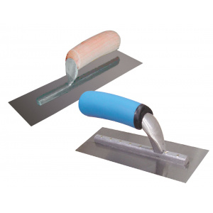 High carbon steel finishing trowels