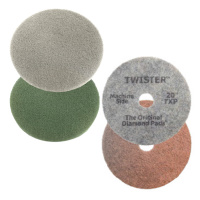 Twister polishing pads